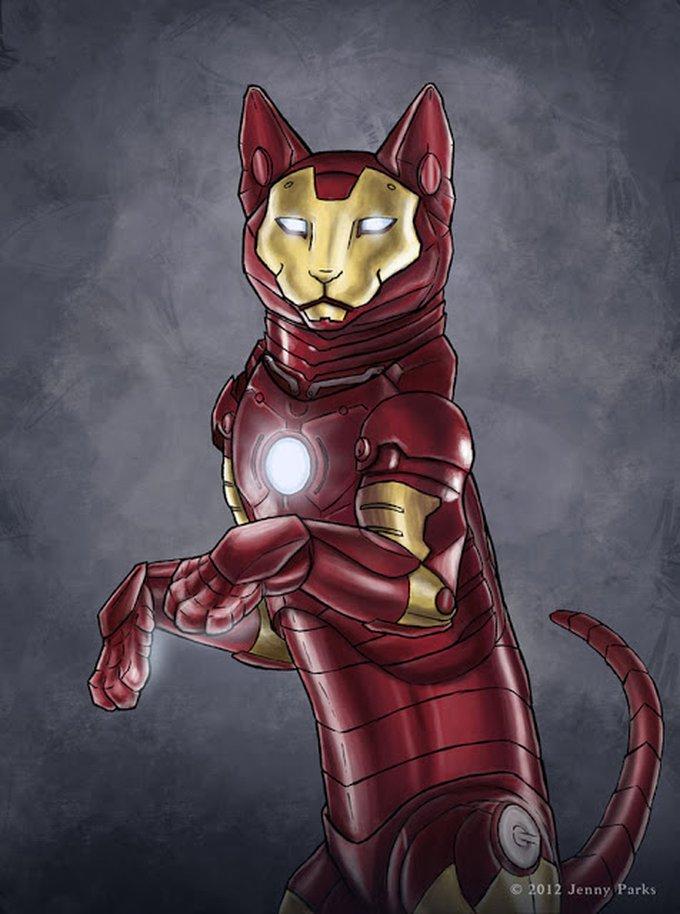 Jenny Parks, une illustratrice qui transforme les chats en super héro !