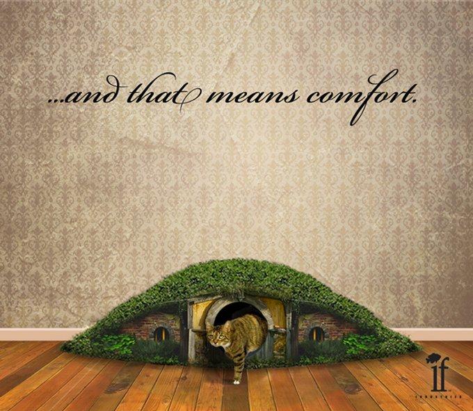 La litière hobbit pour les fans du Seigneur des Anneaux !