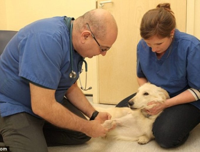 Sandy avec ses médecins