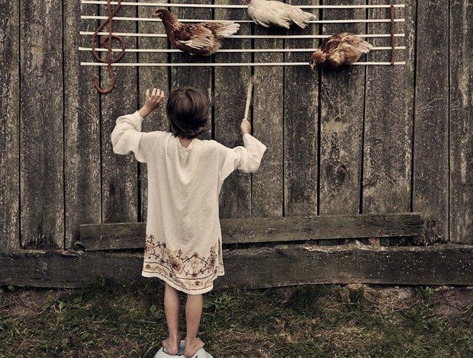 partition enfant poules