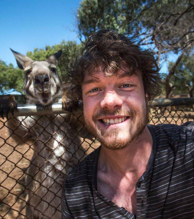 selfie kangourou