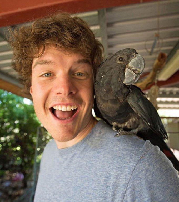 selfie perroquet