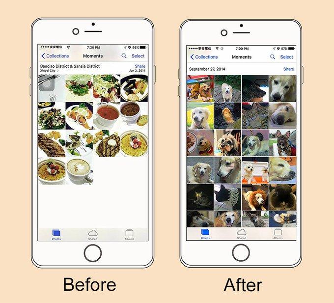 Gallerie de photo sur smartphone