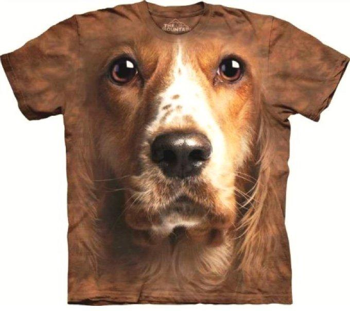 t-shirt avec une tête de chien