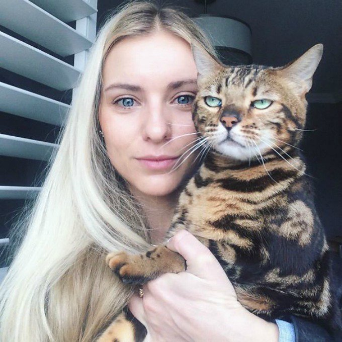 selfie chat blasé
