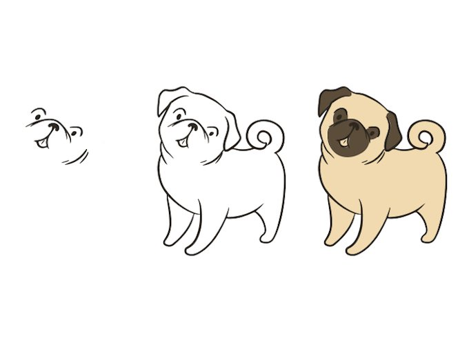 how-to-draw-a-pug-standing