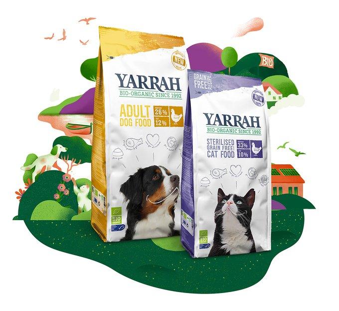 Yarrah - Nourriture biologique pour chiens et chats