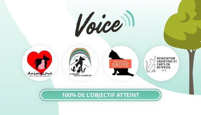 Toutes les cagnottes du mois de mai sont terminées sur le programme solidaire Voice.